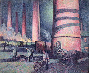 Factory Chimneys, 1896 Canvas Print