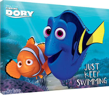 Finding Dory - Just Keep Swimming Canvas Print