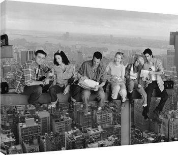 Friends - Lunch on a Skyscraper Canvas Print