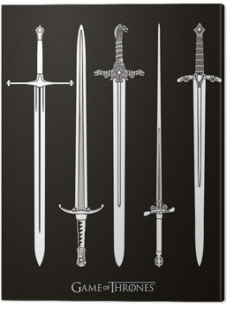 Game of Thrones - Swords Canvas Print