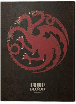 Game Of Thrones - Targaryen Canvas Print