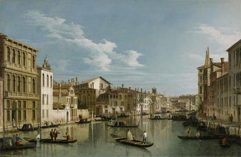 Grand Canal from Palazzo Flangini to Palazzo Bembo, c.1740 Canvas Print