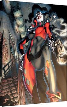 Harley Quinn - Gun Smoke Canvas Print