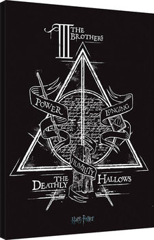 Harry Potter - Deathly Hallows Canvas Print