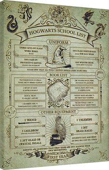 Harry Potter - Hogwarts School List Canvas Print