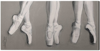 Hazel Bowman - Dancing Feet Canvas Print