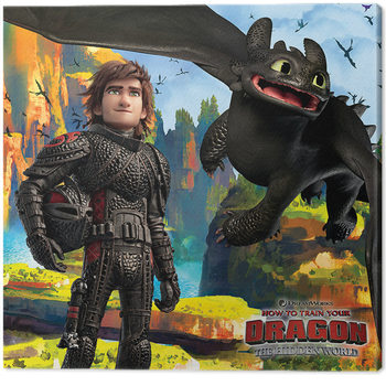 How To Train Your Dragon - A Hidden World Canvas Print
