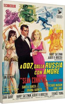 James Bond - Dalla Russia Con Amore Canvas Print