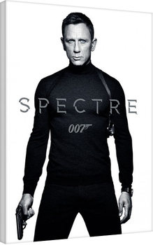 James Bond: Spectre - Black and White Teaser Canvas Print