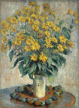 Jerusalem Artichoke Flowers, 1880 Canvas Print