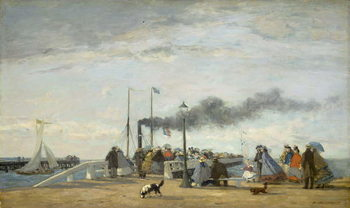 Jetty and Wharf at Trouville, 1863 Canvas Print