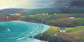 Jo Grundy - Coastal Hills Canvas Print