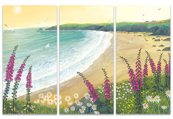 Jo Grundy - Dawn Over Foxglove Bay Canvas Print