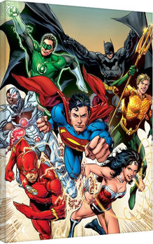 Justice League - Attack Canvas Print