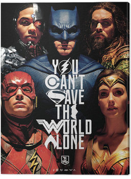 Justice League Movie - Save The World Canvas Print