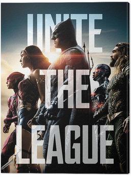 Justice League Movie - Unite The League Canvas Print