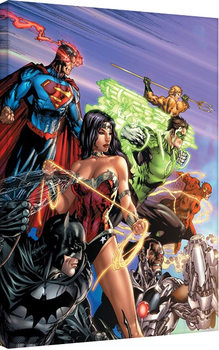 Justice League - Ready For Action Canvas Print