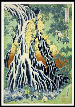 Kirifura Fall in Kurokawa Mountain', from the series 'A Journey to the Waterfalls of All the Provinces' ('Shokoku taki meguri') pub.by Nishimura Eijudo, c.1832 Canvas Print