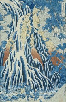 Kirifuri Fall on Kurokami Mount, from the series 'Shokoku Taki Meguri' (A Journey to the Waterfalls of All the Provinces) c.1832 Canvas Print