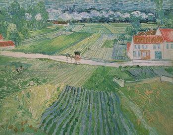 Landscape at Auvers after the Rain, 1890 Canvas Print