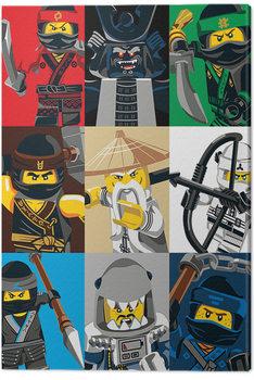 Lego Ninjago Movie - Colour Blocks Canvas Print