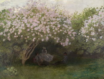 Lilacs, Grey Weather, 1872 Canvas Print