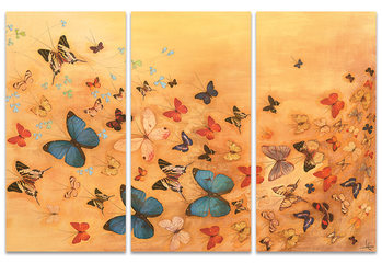 Lily Greenwood - Butterflies on Warm Ochre Canvas Print