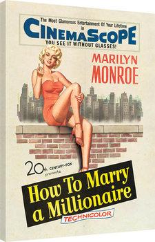 Marilyn Monroe - Millionaire Canvas Print
