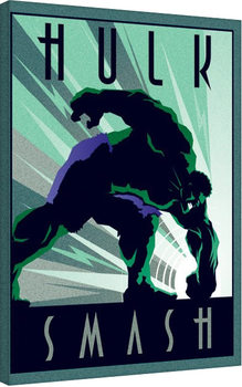 Marvel Deco - Hulk Canvas Print