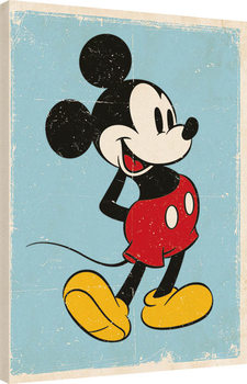 Mickey Mouse - Retro Canvas Print