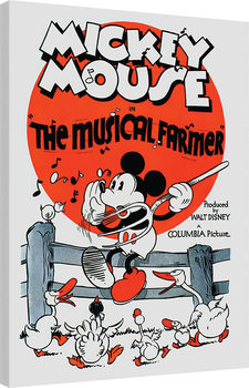 Mickey Mouse - The Musical Farmer Canvas Print