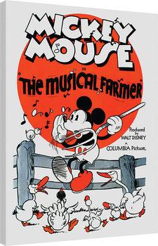 Mickey Mouse - The Musical Farmer Canvas Print