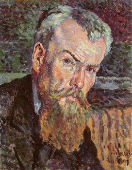 Portrait of Henri Edmond Cross (1856-1910) 1898 (oil on canvas) (detail) Canvas Print