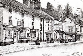 Post office Prestbury, 2009, Canvas Print