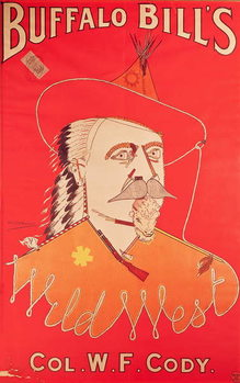 Poster advertising Buffalo Bill's Wild West show, published by Weiners Ltd., London Canvas Print