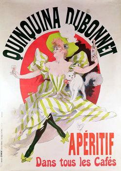 Poster advertising 'Quinquina Dubonnet' aperitif, 1895 Canvas Print