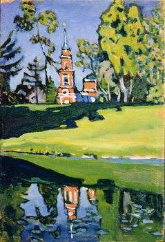 Red Church, 1900 Canvas Print