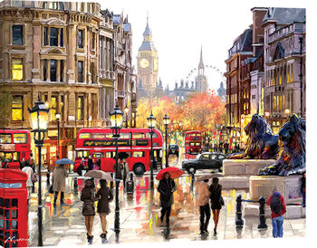Richard Macneil - London Landscape Canvas Print