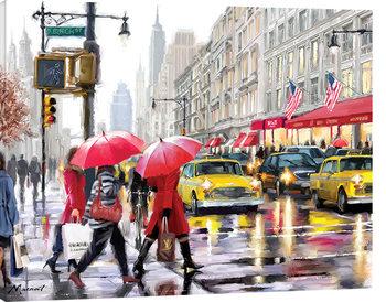 Richard Macneil - New York Shoppers Canvas Print