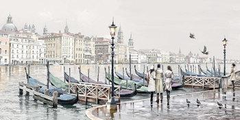 Richard Macneil - Quayside, Venice Canvas Print