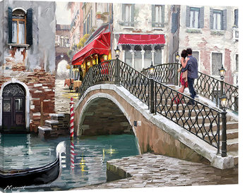 Richard Macneil - Venice Bridge Canvas Print