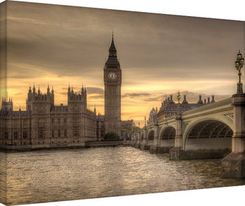 Rod Edwards - Autumn Skies, London, England Canvas Print
