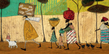 Sam Toft - Doris helps out on the trip to Mzuzu Canvas Print