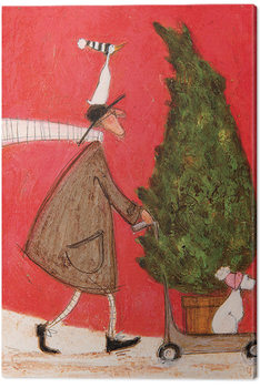 Sam Toft - Little Silent Christmas Tree Canvas Print