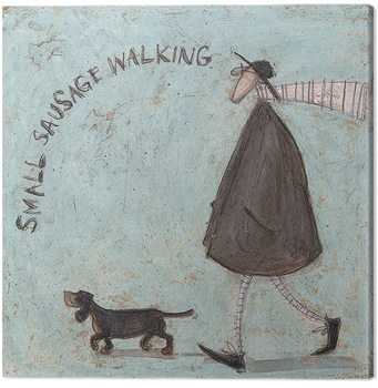 Sam Toft - Small Sausage Walking Canvas Print