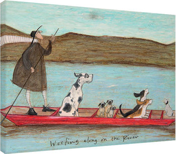 Sam Toft - Woofing along on the River Canvas Print