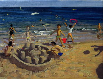 Sandcastle, France, 1999 Canvas Print