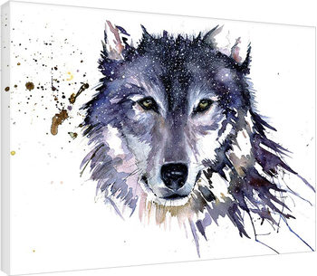 Sarah Stokes - Snow Wolf Canvas Print