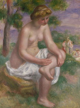 Seated Bather in a Landscape or, Eurydice, 1895-1900 Canvas Print