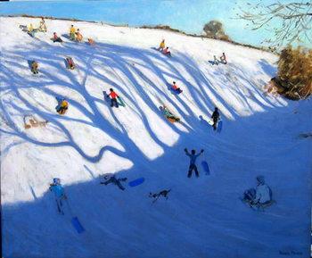 Shadows on a hill, Monyash Canvas Print